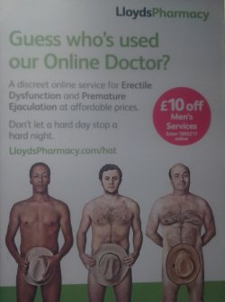 lloyds pharmacy mens toilet ED discountad ad